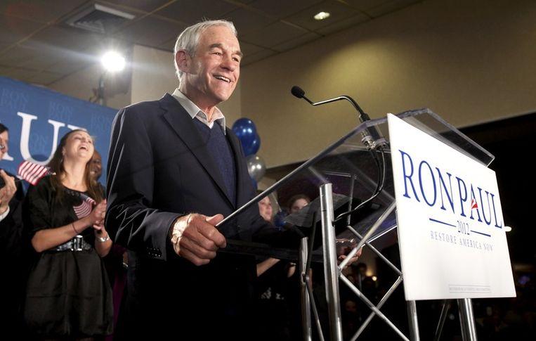 De oudste kandidaat Ron Paul (76), doet het vooral goed bij de jongeren. Beeld REUTERS
