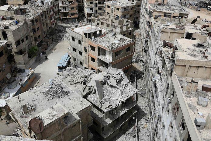 De Syrische stad Douma