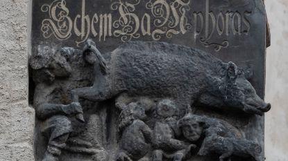 Antisemitisch reliëf mag aan Duitse kerk blijven hangen