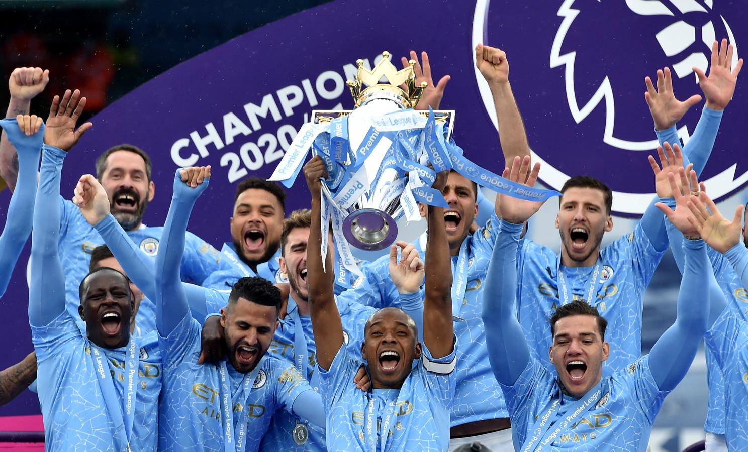 Manchester City veroverde afgelopen seizoen de titel in de Premier League.