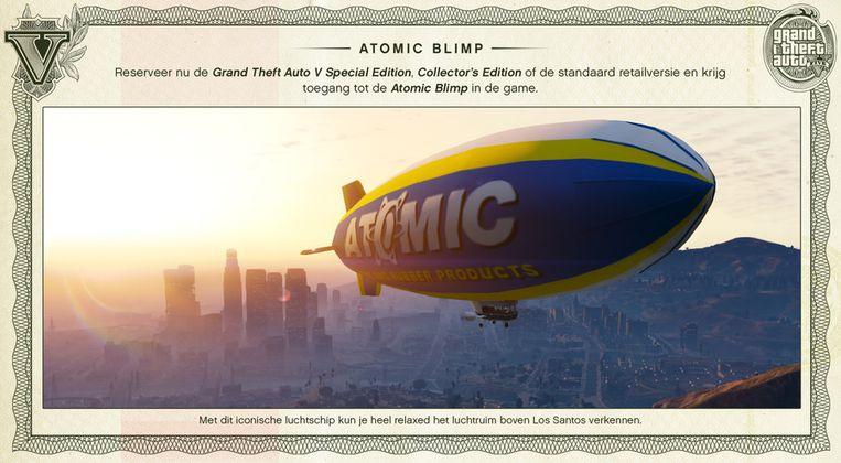 Zeg niet zomaar zeppelin tegen de atomic blimp. Beeld kos