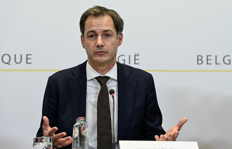 Premier Alexander De Croo Beeld AP