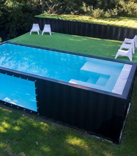 Uniek zwembad voor in de tuin: een omgebouwde zeecontainer