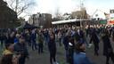 Grote opkomst, zaterdagmiddag, voor een verkiezingsbijeenkomst van Forum voor Democratie in Roosendaal.
