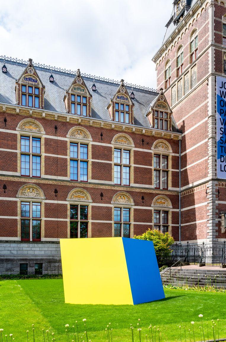 Yellow Blue (1968) is het hoogtepunt van de expositie.  Beeld Governor Nelson A. Rockefeller Empire State Plaza Art Collection