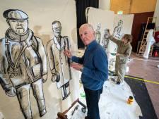 Arnhemmers schilderen het decor voor 'Op het puin, en dan nu'