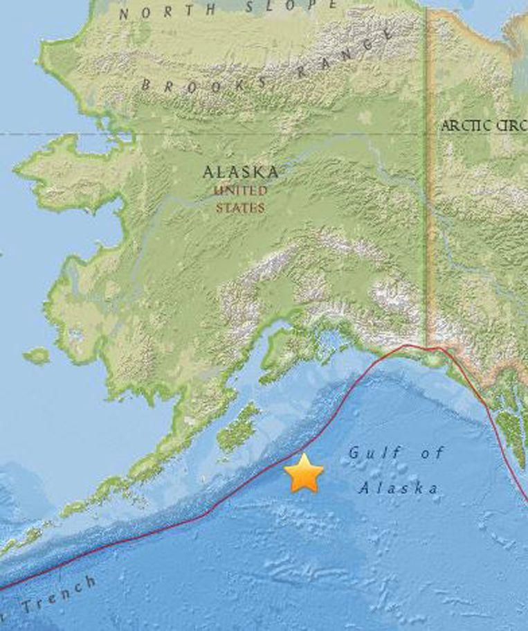Tsunamigevaar in de Golf van Alaska. Beeld EPA
