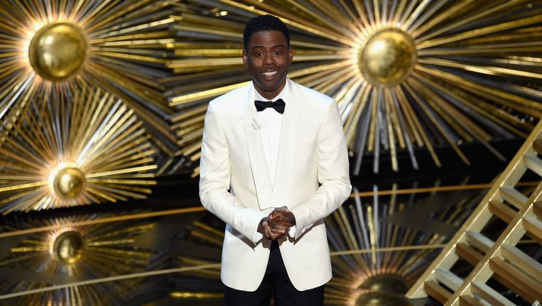 Chris Rock presenteerde de Oscars. Beeld AFP