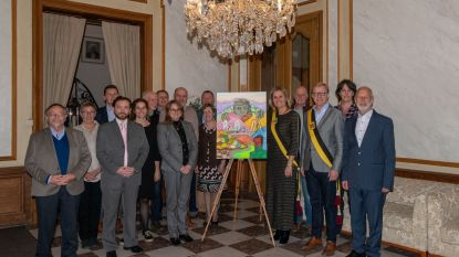 Schilderij uit zusterstad krijgt plaatsje in Kasteel van Wippelgem