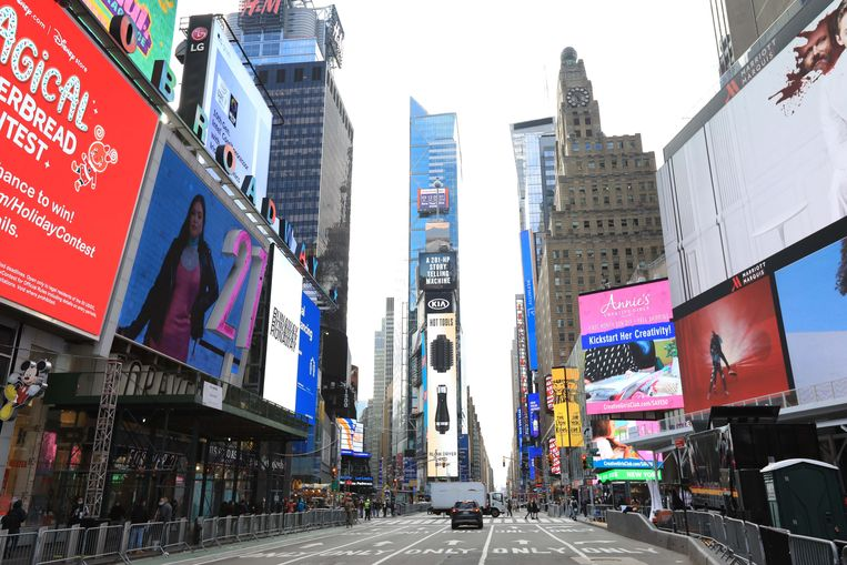 Times Square in Manhattan. Beeld Photo News