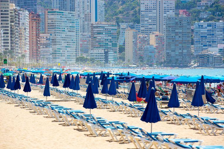 Het strand bij Benidorm in de zomer van 2020. Beeld ANP