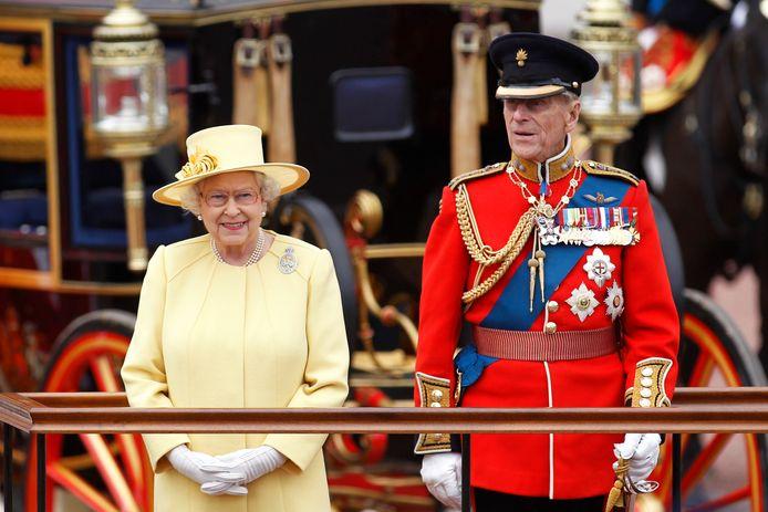 La reine Elizabeth II et le prince Philip en 2012.