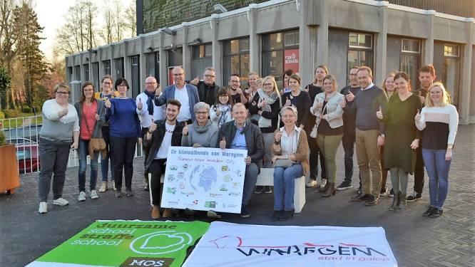 Waregem viert vijf duurzame organisaties: Klimaatbende, Den Bazaar, T'hus, De Brug en Werkplus