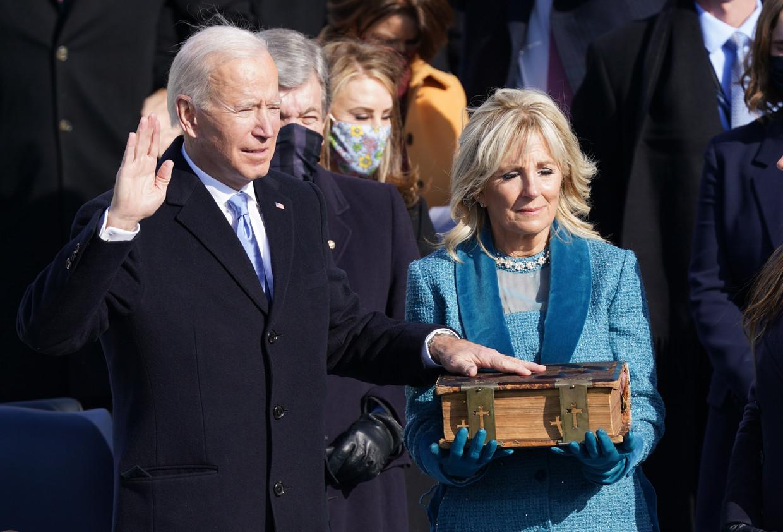Joe Biden is de 46e president van Amerika  Beeld REUTERS