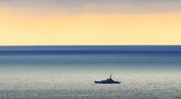 Foto ter illustratie: een Britse patrouilleboot op het kanaal. Beeld AP