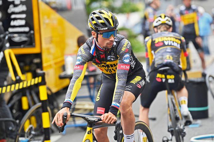 Primoz Roglic bereidt zich met zijn ploeg Jumbo-Visma voor op de Tour de France.