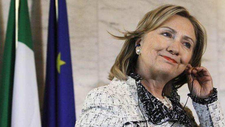 Hillary Clinton is momenteel in Rome voor internationaal topoverleg over Libië. Beeld REUTERS