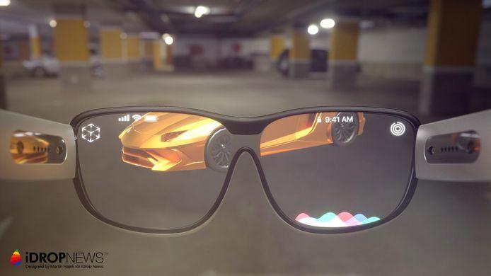 Concept van een slimme Apple-bril.