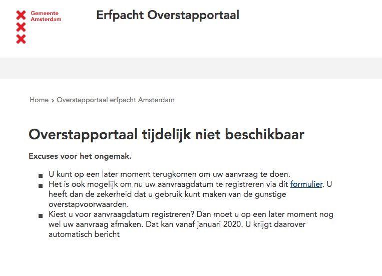 De website van de gemeente is al vier dagen onbereikbaar. Beeld Screenshot