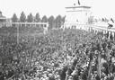 Het Olympisch Stadion is voor de finale België-Tsjechoslowakije op 2 september tot de nok gevuld.