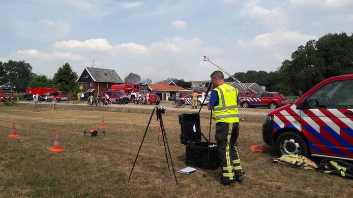 Ter controle werd ook de brandweerdrone ingezet.