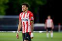 Jeremy Antonisse bij een thuiswedstrijd van Jong PSV.