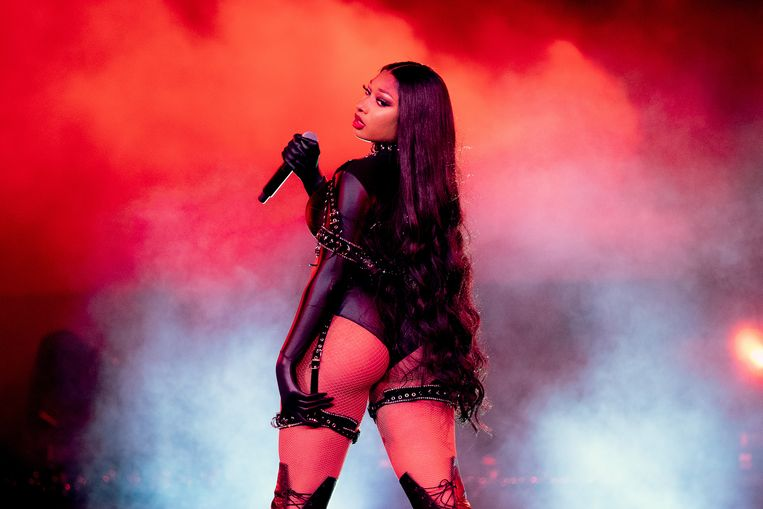 Megan Thee Stallion op het festival 'Red Rocks Unpaused' in Morrison, Colorado, begin september 2020. Beeld Getty Images for Visible