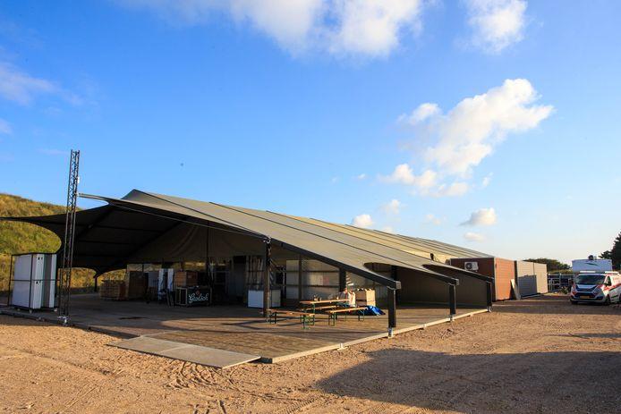 Het paviljoen op het F1-circuit in Zandvoort.