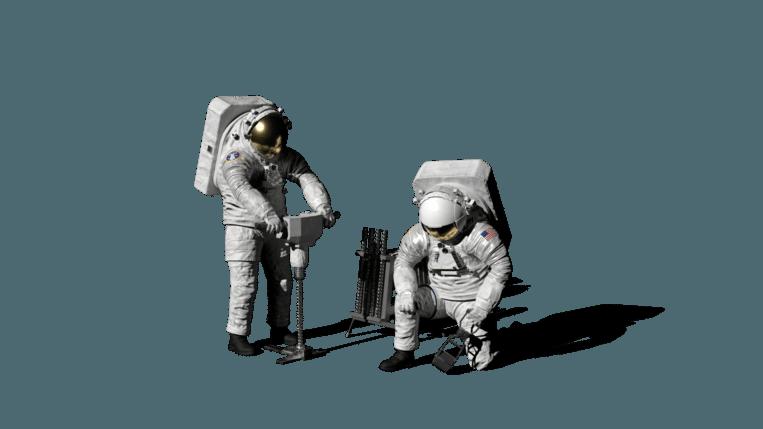 Impressie van het nieuwe xEMU-ruimtepak dat bij de Artemis-missie zal worden gedragen.  Beeld Nasa