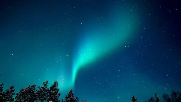 Noorderlicht in Scandinavië. Beeld epa