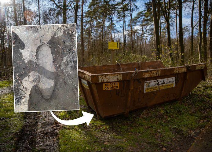 Tot de EOD heeft bepaald hoe de bom moet worden ontmanteld, wordt hij afgedekt met een grote puincontainer.  De gemeente Lochem plaats er nu ook hekken omheen.