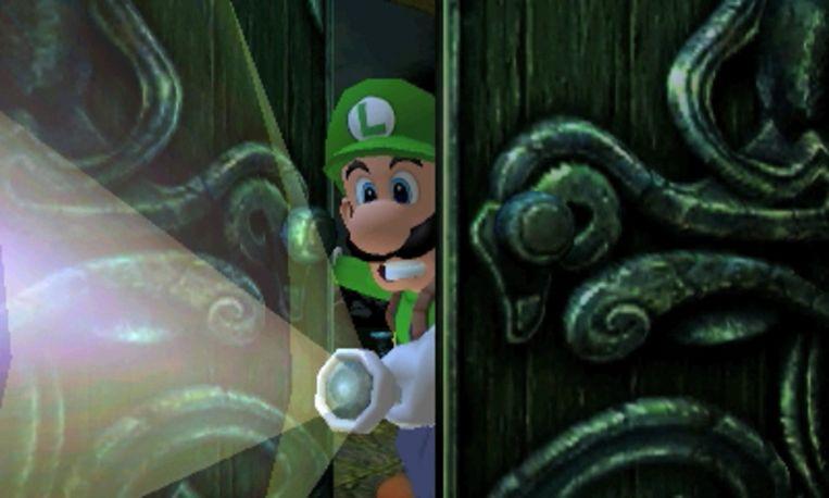 'Luigi's Mansion' maakt een welgekomen rentrée op de 3DS/2DS-zakconsole. Beeld Nintendo