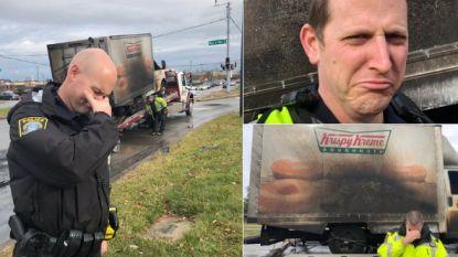 Wereldwijde steun voor heerlijk zelfspottende agenten die 'treuren' om verbrande donuts