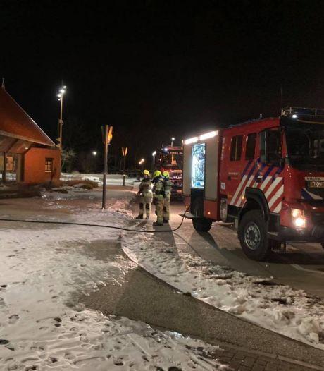 Brand gesticht in toiletgebouw van het Transferium in Renesse