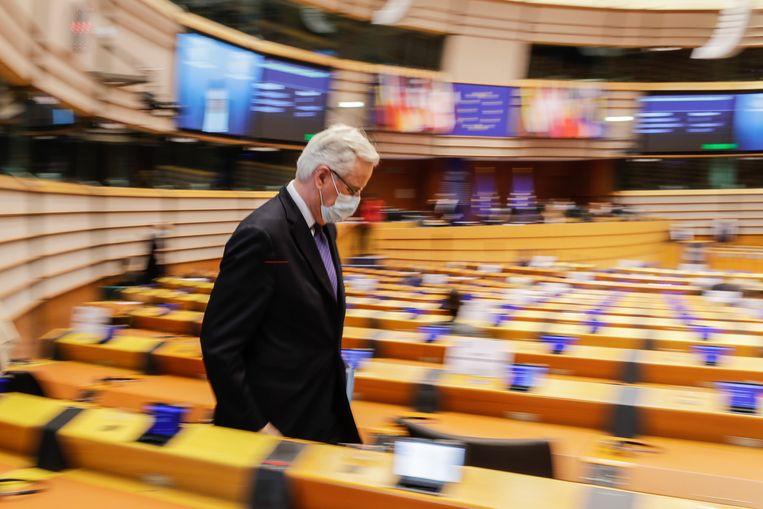 Europees president Michel Barnier.  Beeld AP