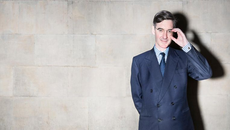 Jacob Rees-Mogg in The House of Commons. Beeld Els Zweerink
