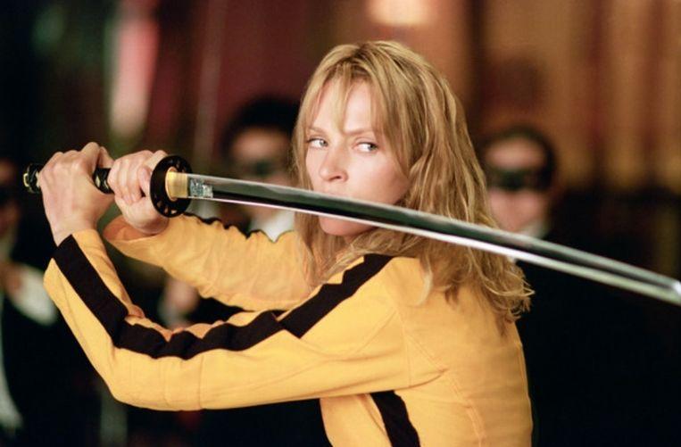 Uma Thurman in 'Kill Bill' als wraakzuchtige weduwe.  Beeld kos
