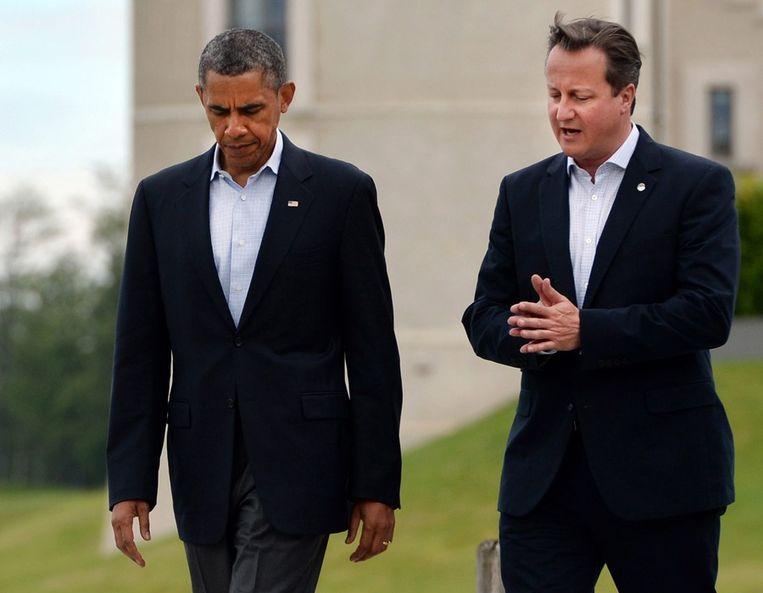 President Barack Obama en premier David Cameron Beeld epa