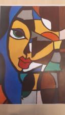 Het winnende schilderij van de 14-jarige Niray.