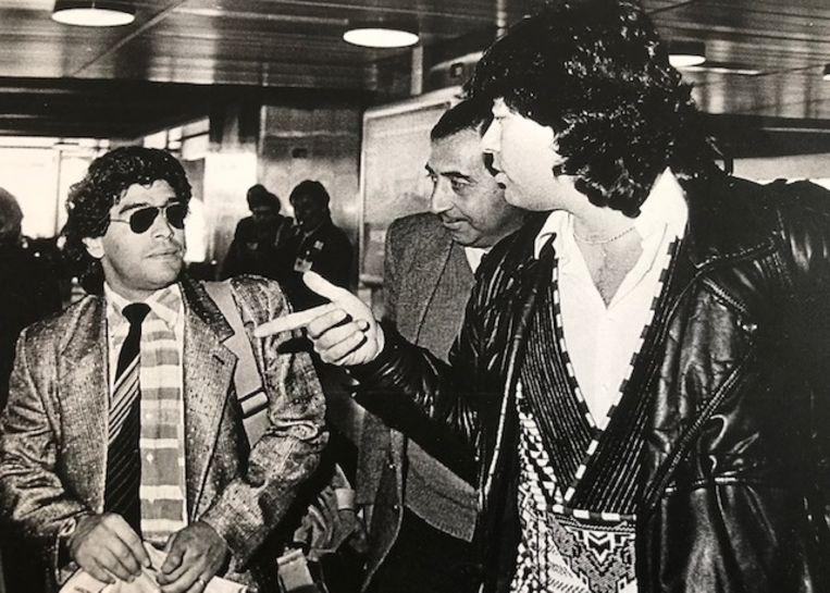 Maradona en Jaap de Groot. Beeld Jaap de Groot, privefoto