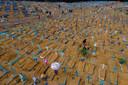 Begraafplaats Nossa Senhora Aparecida (Manaus, Brazilië) op 9 mei, moederdag.