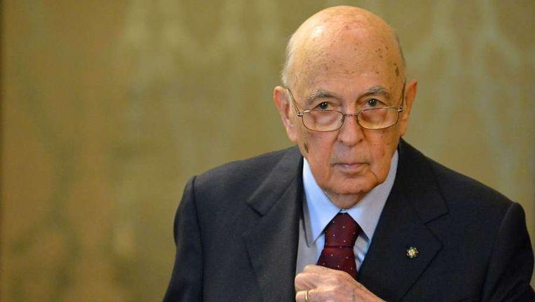 De 88-jarige Italiaanse president Giorgio Napolitano. Beeld afp
