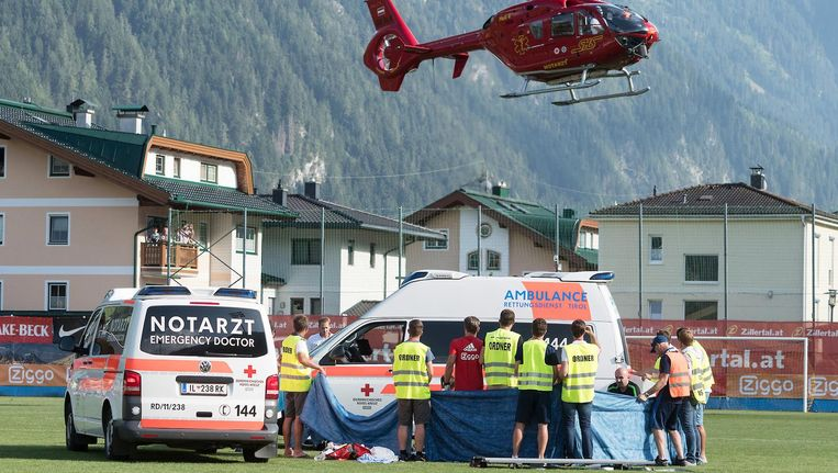 Volgens de familie is de medische behandeling van Nouri ernstig tekort geschoten nadat hij tijdens een oefenwedstrijd in Oostenrijk na hartfalen ineenzakte. Beeld anp