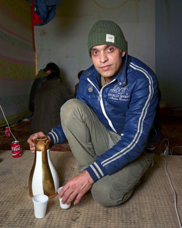 Rehman in Calais Beeld Henk Wildschut