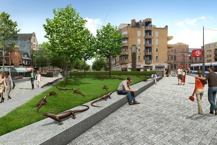 De andere kant van het Kleine-Gartmanplantsoen van de toekomst. Beeld Gemeente Amsterdam