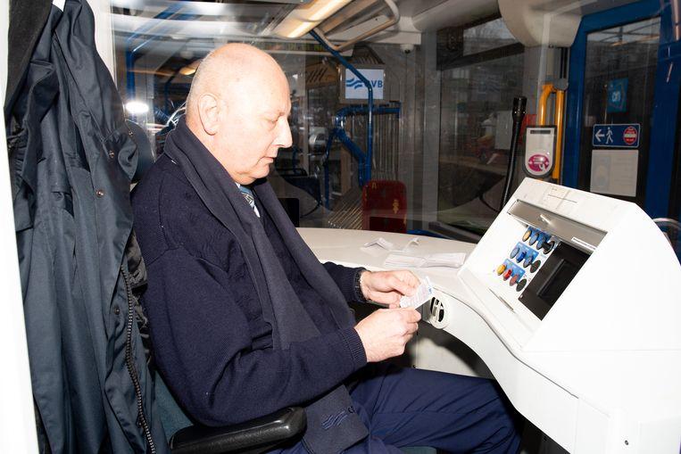 Roy Peters in zijn tram. Beeld Marjolein van Damme