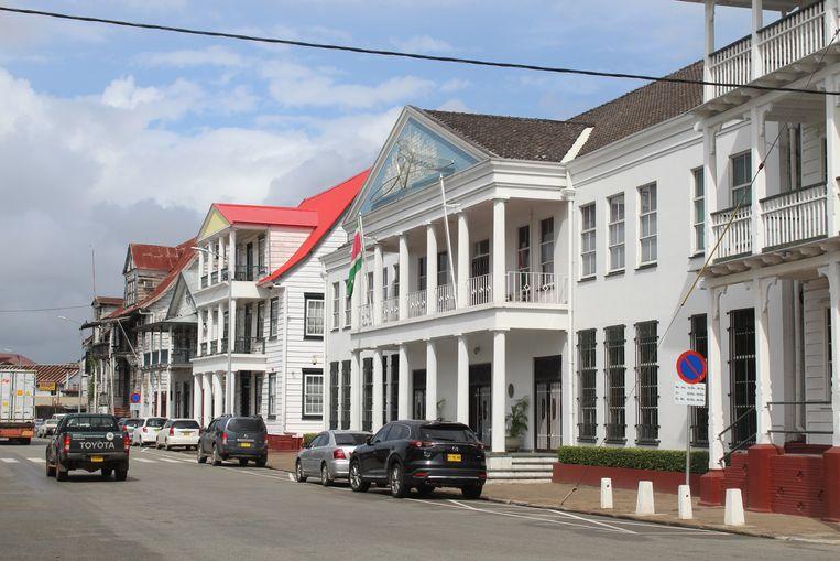 De Centrale Bank van Suriname in Paramaribo. Beeld Zoë Deceuninck