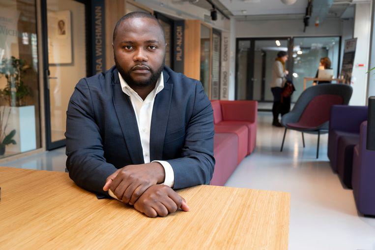 Mpanzu Bamenga, advocaat en raadslid van D66 in Eindhoven.  Beeld Hollandse Hoogte /  ANP