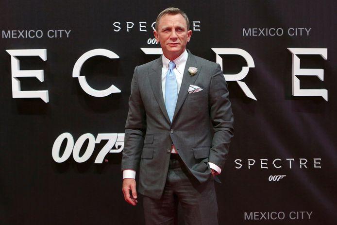"""Daniel Craig à la sortie de """"Spectre"""" en 2015."""