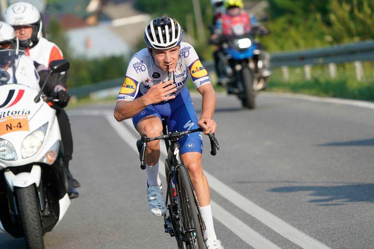 Remco Evenepoel, hier op 8 augustus in de Ronde van Polen.  Beeld BELGA